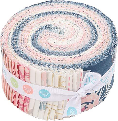 Melissa Mora Blooms & Bobbins Rolie Polie 40 2.5-inch Strips Jelly Roll Riley Blake RP-8500-40 ()