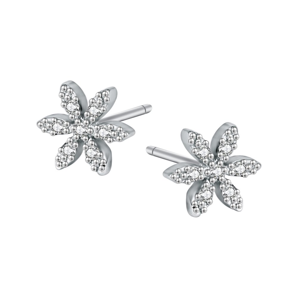 AoedeJ Puzzle Star Stud Earrings Sterling Silver Cubic Zirconia Stud Earrings for Girls and Women