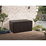 Keter Marvel Plus 71-Gallon All-Weather Outdoor Storage Deck Box - Espresso Brown