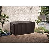 Keter Marvel Plus 71-Gallon All-Weather Outdoor Storage Deck Box - Espresso Brown