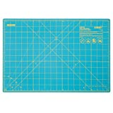 OLFA 1132644 Double Sided Rotary Mat, 12'' x 18'', Aqua