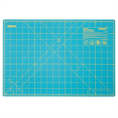 OLFA 1132644 Double Sided Rotary Mat, 12'' x 18'', Aqua by OLFA