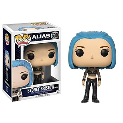 Funko POP Television Alias Sydney Bristow (Blue Hair) Action Figure: Funko Pop! Television:: Toys & Games