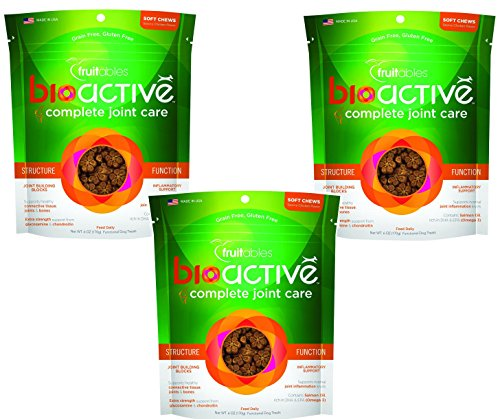 Cheap 3 Pack of Fruitables BioActive Complete Joint Care Functional Chewy Treats, 6 oz Each