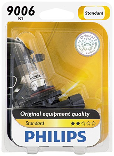 Philips 9006B1 Standard Halogen Replacement Headlight Bulb, Pack of 1 (Car Headlamp Bulbs)