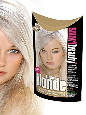 Blaue haarfarbe mit aufheller