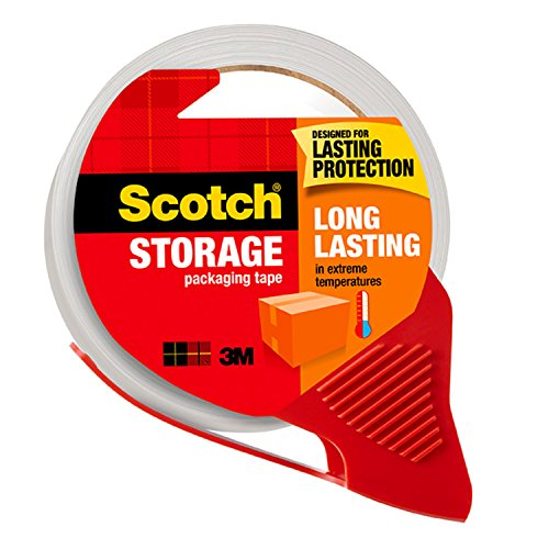 Scotch Long Lasting Storage Packaging Tape with Dispenser, 1.88 in. x 38.2 yd, 1 Dispenser/Pack