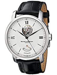 Baume & Mercier Men's MOA08869 Automatic Stainless Steel with Synthetic Leather Croco-Embossed Black Band Watch by Baume & Mercier