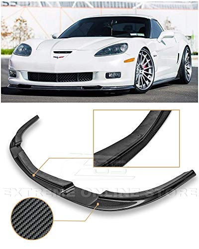 ZR1 Style Carbon Fiber Front Bumper Lower Lip Kit Splitter for sale  Delivered anywhere in Canada