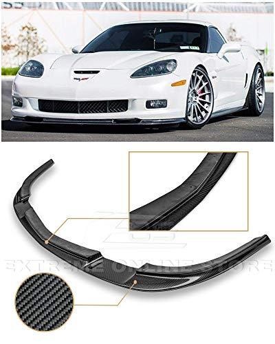 - Extreme Online Store Replacement for 2005-2013 Chevrolet Corvette C6 Wide Body Models | ZR1 Style Carbon Fiber Front Bumper Lower Lip Splitter