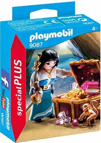 Playmobil Pirates Treasure - PLAYMOBIL® Pirate with Treasure Building Set