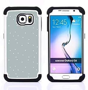 """Pulsar ( Modelo de puntos blanco nieve Blue Sky"""" ) Samsung Galaxy S6 / SM-G920 SM-G920 híbrida Heavy Duty Impact pesado deber de protección a los choques caso Carcasa de parachoques [Ne"""