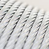 25m steel wire rope 6mm grinding machine garden forestry EN 12385-4 Strand: 6x19+FC - many sizes avaliabl