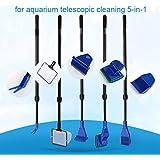 LONDAFISH Cleaning Kit Fish Tank Long Handle Fish Tank Brush Functional Five Cleaning Tools Aquarium Telescopic Cleaning 5-in-1