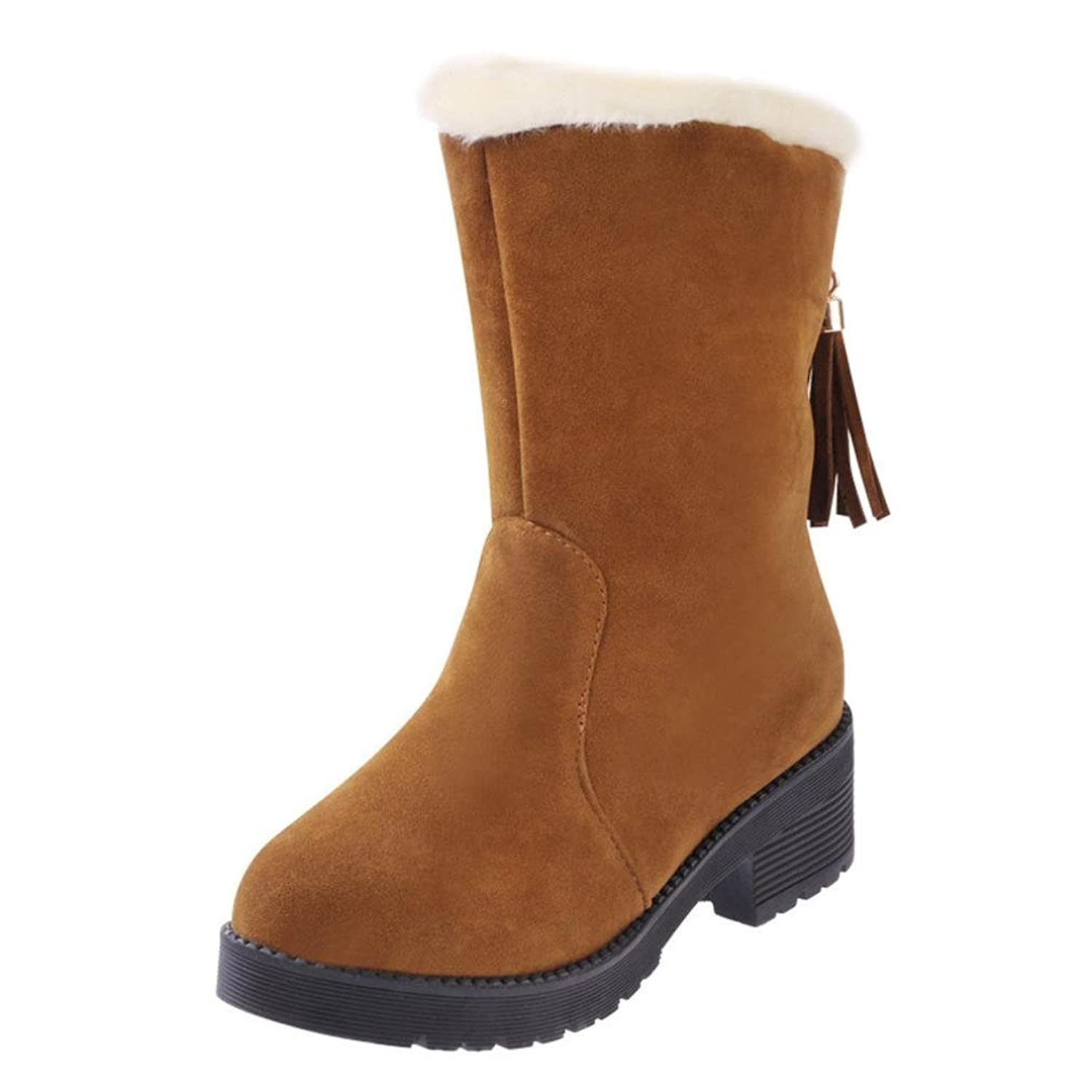 ☆ ▷ ♤ Pretty Fashion Women Winter Warm Flat Snow Boots