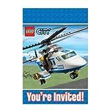 Lego City Party - Lego Party Invitations & Envelopes x 8