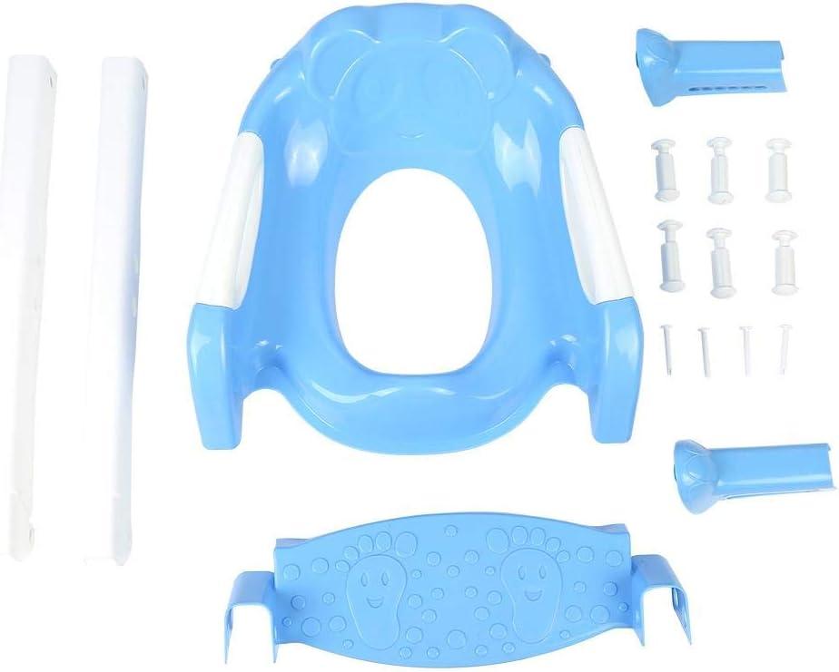 55 Chaise de Toilette dEnfant Ajustable R/éducteur de Toilette avec Marche Si/ège dEntra/înement de Toilette Antid/érapant 36 40cm