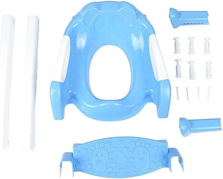 Asiento orinal Reductor inodoro para niños, Asiento para inodoro Portátil para bebés con escalera WC aseo entrenador seguridad para niños ergonómico antideslizante ajustable blu + bianco: Amazon.es: Bebé