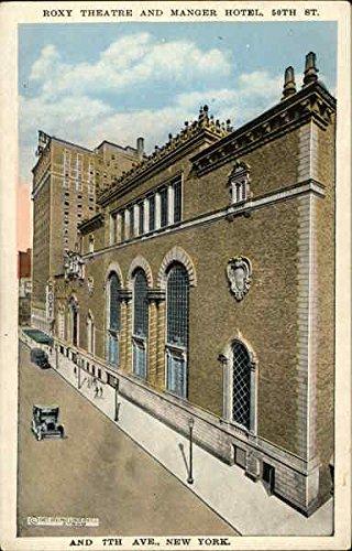 Roxy Theatre and Manger Hotel New York, New York Original Vintage Postcard