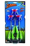 Zing 3 Suction Cup Arrows Replacement, Black and Green