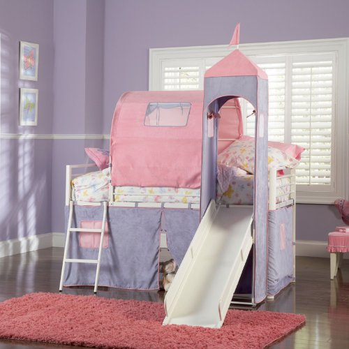 powell princess castle twin tent bunk bed with slide buy online in oman kitchen products in. Black Bedroom Furniture Sets. Home Design Ideas