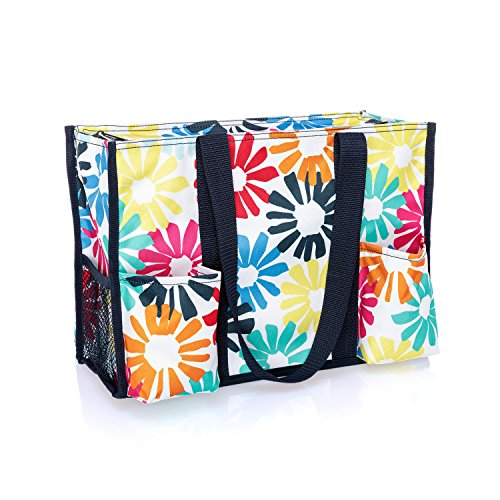- Thirty One Zip-Top Organizing Tote in Bloomin Bouquet - No Monogram - 4451