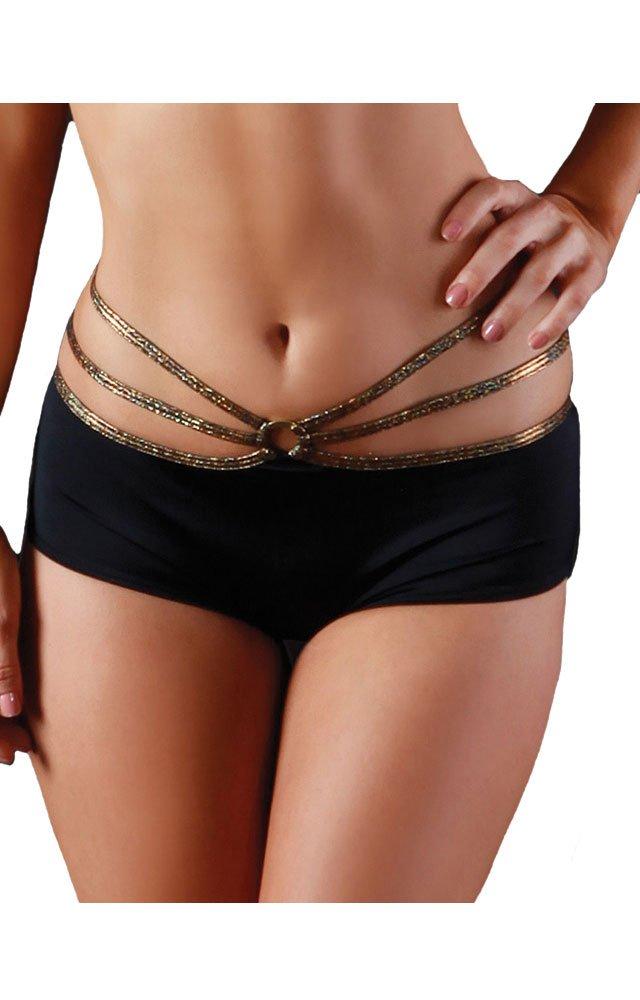 Pole Fitness Strappy O Ring Shorts - SMALL/MEDIUM by BodyZone Apparel