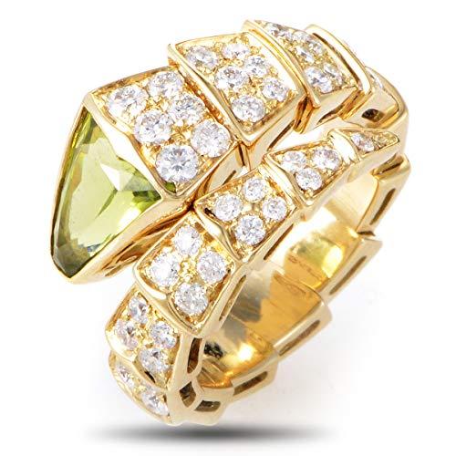 Bvlgari (Est.) Bvlgari Serpenti 18K Yellow Gold Diamond and Peridot Ring