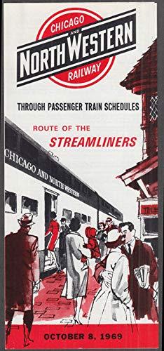 Chicago & North Western Railway Passenger Timetable 10/8 1969