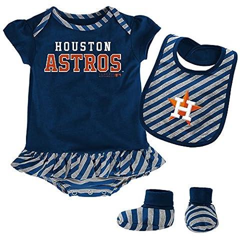 MLB Houston Astros Infant Girls Bib & Booty-18 Months, Athletic Navy (Houston Astros Baby Set)