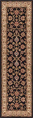 (Well Woven Barclay Sarouk Black Traditional Area Rug 2'3