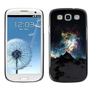 TopCaseStore / la caja del caucho duro de la cubierta de protección de la piel - Sky Mountain Alaska Universe - Samsung Galaxy S3 I9300
