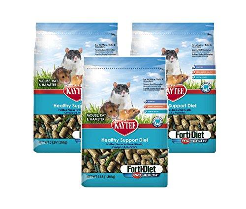 (3 Pack) Kaytee Forti-Diet Pro Health Mouse, Rat & Hamster Food 3 lbs (Forti Diet Hamster)