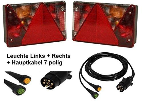 Aspö ck Multipoint 4 - Leuchtenset - 7polig - 5m Kabel FKAnhängerteile