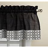 Lorraine Home Fashions Salem 60-Inch x 12-Inch Tailored Valance, Black