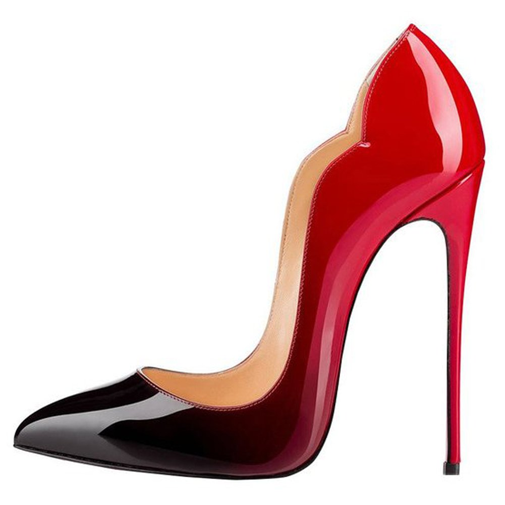 EKS - Zapatos de Tacón Mujer 36 EU Rot&Schwarz