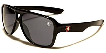 068487a2ee3 Image Unavailable. Image not available for. Color  Black Red Flat-Top  Plastic Aviator Mens Fashion Sunglasses