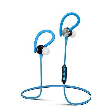 Transer® Auricular inalambrico Bluetooth pregunto Deportes auriculares auriculares para iPhone Samsung (Azul)