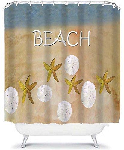 Sand Dollar And Starfish Beach House Shower Curtain From My Art (70 X 90)