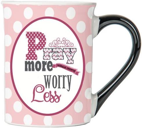 Pray More Worry Less Mug , Inspirational Coffee Cup, Inspirational Mug, Ceramic Mug, Custom Inspirational Gifts By Tumbleweed