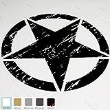 20 Jeep Wrangler Freedom Edition Star Hood Decal Sticker (Matte Black) by Autodream sticker