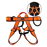 Climbing Harness Safe Seat Belt, UCEC for Fire Rescue, High Altitude Rock Climbing, Rappelling Equipment, Half Body Guard Protect, Pack of 1 (Orange)