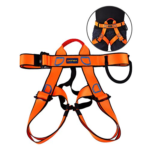 UCEC Climbing Harness Safe Seat Belt, for Fire Rescue, High Altitude Rock Climbing, Rappelling Equipment, Half Body Guard Protect, Pack of 1(Orange) ()