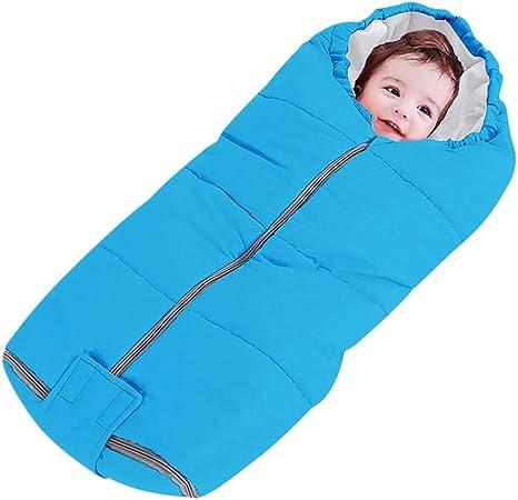 Saco de dormir acolchado de algodón para bebé o niña, para bebés de 0 a 12 m, cómodo y seguro azul azul Talla:talla única: Amazon.es: Bebé