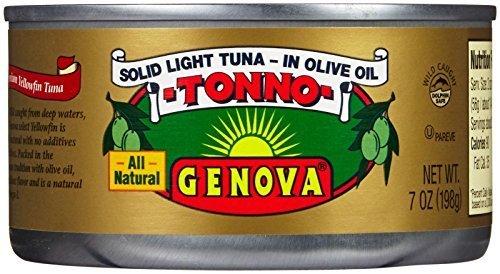 Genova Tonno Light Tuna in Oil-7 oz, 6 ct by Genova (Genova Tuna)
