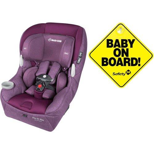 Maxi-Cosi Pria 85 Max Convertible Car Seat – Nomad Purple with Bonus Baby on Board Sign