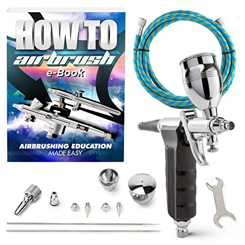 PointZero Precision Trigger Style Gravity-Feed Airbrush Set w/MAC Valve