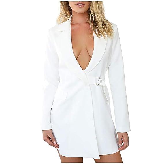 STRIR Chaqueta Larga de Vestir Mujer Blazer Elegante Oficina ...