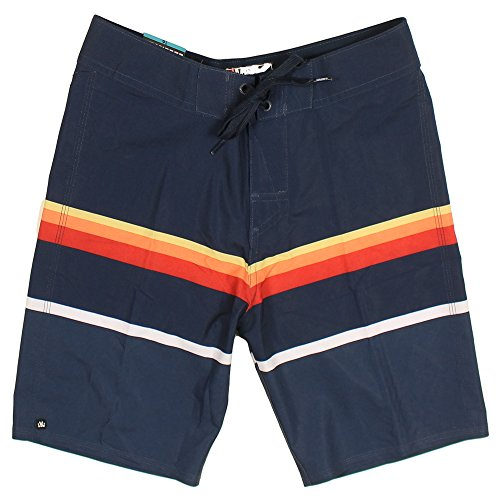 Micros Boy's Microfiber Boardshorts (16, Blue/Striped)