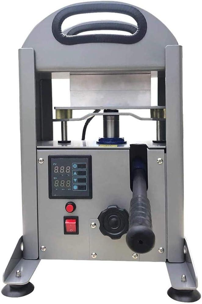 7 Ton Hydraulic Heat Press Machine with Dual 2.4 x 6 Inch Solid Heated Plates Portable Jack Hydraulic Cylinder Press Machine for extruding Work Digital Control Panel